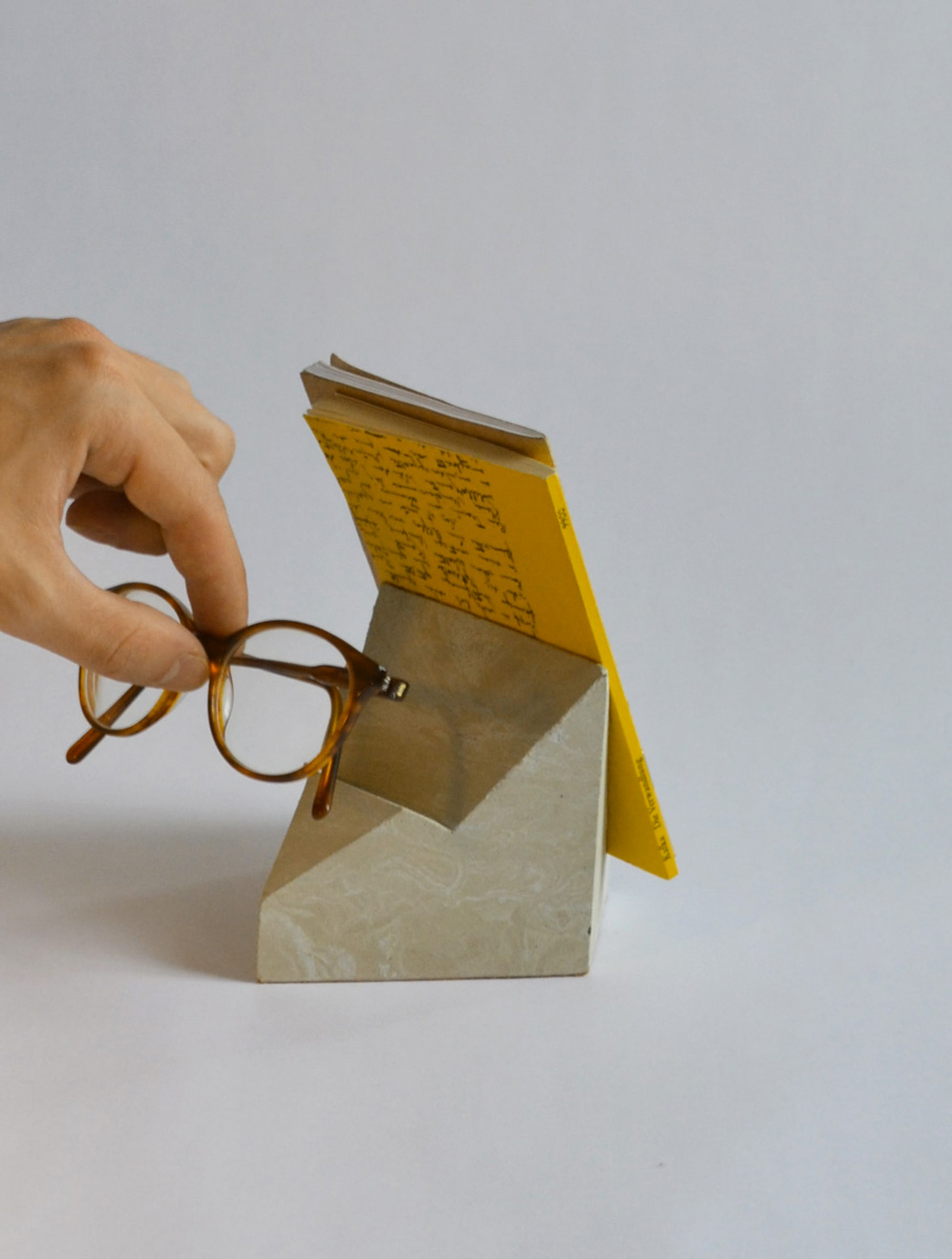 cyr-book-stand-concrete-block-glass-holder