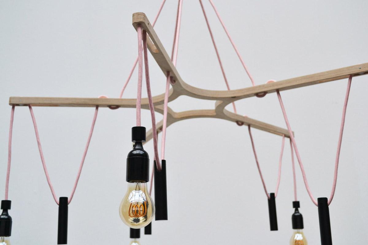 neonila candelier light detail