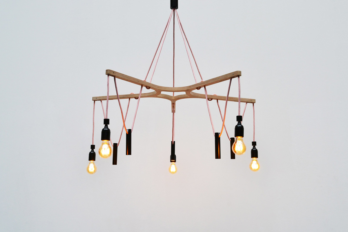 neonila candelier light front view